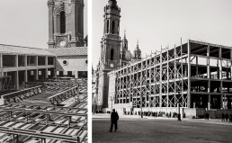 Fotos antiguas de la construcción del Ayuntamiento de Zaragoza